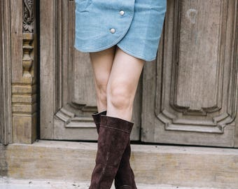 Tall Brown Slouch Boots