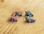 Micro Royal Mer-Dragon Figurine   Miniature Dragon   Hologrphic and UV Reactive   LILAC and BLUE