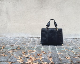 Leather handbag Pistore - 1970's