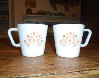 Vintage Pyrex Summer Impressions Coffee Mugs