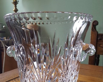 Fine lead crystal champagne bucket