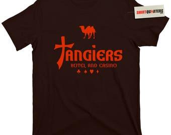 Tangiers Casino Las Vegas Strip Flamingo Bugsy Siegel Stardust the Dunes Rat Pack Mafia Mob Mobster la costra nostra Goodfellas Tee T Shirt