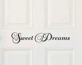 Sweet Dreams Nursery Door Decal Baby Room Door Nursery Door Decor Sweet Dreams Decor Baby Shower Gift Nursery Vinyl Door Decal Door Vinyl