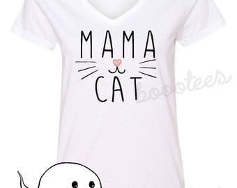 Funny Shirt Cat T-Shirt Tee Mama Cat Kitten Lover T-Shirt T Tee Mens Women Ladies Kitty Birthday Gift Present Adoption Crazy Cat Lady Meow