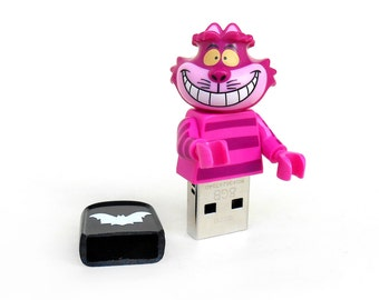 Cheshire Cat usb 8GB, Lego Disney usb, Disney gift, Cat usb, Lego® original Minifigure, Lego gift, Disney Minifigure, Animal usb, Lego usb