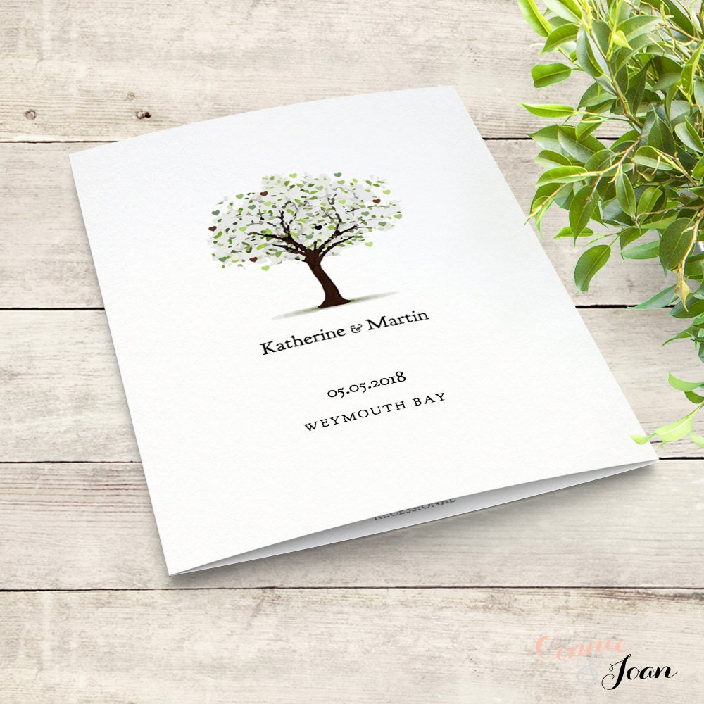 Tree Wedding Program Template Of Love Edit Print Fold