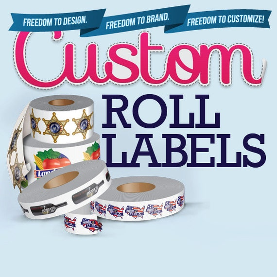 250 Custom Roll Labels Semi-Gloss Paper Design And Printing