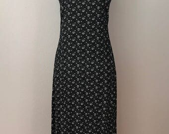 1990's Slip Style Midi Floral Dress