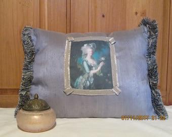 Marie Antoinette dupioni silk pillow