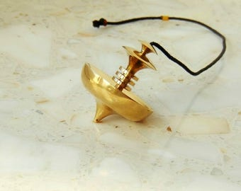 Mer-Isis large pendulum, dowsing pendulum, brass, pendulum, brass pendulum, dowsing, healing pendulum, chakra pendulum, reiki, esoteric
