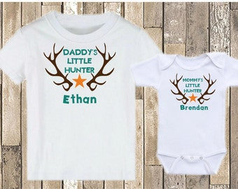 Daddy's Little Hunter - Mommy's Little Hunter - Personalized Hunter Shirt - Kid's Hunting Shirt - Little Hunter Shirt - Baby Hunter Shirt
