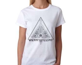 Star Wars T-shirt Sith print Sith lord Holocron t shirt Triangle print Game t-shirt Gift for her For girlfriend Gift for geek Womens t shirt