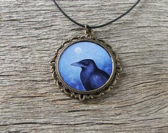 Crow Pendant - Necklace