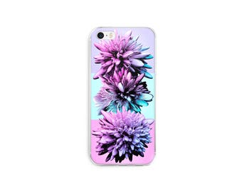 Crystal flowers purple pink abstract floral phone case/cover -cute design case for iPhone 7, 7 Plus, iPhone 6, 6s, 6 Plus, iPhone 5, 5s, 5Se