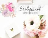 Personalized Ring Dish Personalized Bridesmaid Gifts Bridesmaid Jewelry Box Personalized Jewelry Dish Monogram Ring Dish  (EB3180SM)
