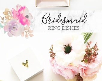 Bridesmaid Gift Ideas Jewelry Dish Personalized Ring Dish Personalized Bridesmaid Gifts for Bridesmaids Maid of Honor Gift Ideas  (EB3180SM)