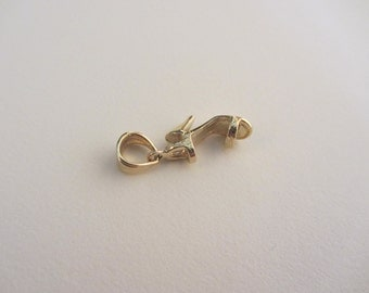 14k Gold 3D High Heel Shoe Charm - 1.46g
