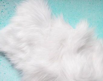 White Fur Fabric FREE SHIPPING- White Craft Fur, White Fursuit Fur, White Furry Fabric White Shag Fur White Faux Fur White Fake Fur