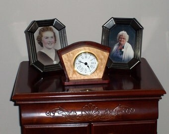 Art Deco Desk Clock-Birthday Gift-Home Decor-Office Clock-Small Clock