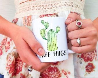 Free Hugs Cactus | Cactus Mug, Cactus Free Hugs, Free Hugs Mug, Cactus Mugs, Cactus Cup, Cute Cactus Mug, Funny Cactus Mug, Cactus