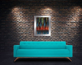 Abstract Metal Print, Metal Photograph Wall Art, Industrial, Urban, Living, Colorful, Executive Loft, High Definition, Unique Gift
