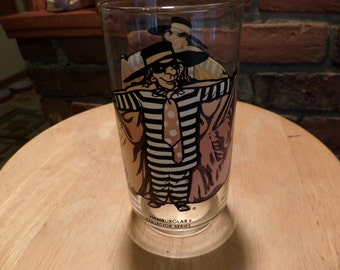 McDonalds 1977 Hamburglar Collector Series Drinking Glass, Collectible McDonalds