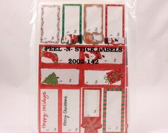 Hallmark Holiday Gift Tags. Self Adhesive Stickers. 6 Sheets in Sealed Package