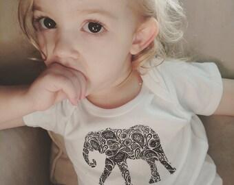 Paisley Elephant Baby Bodysuit