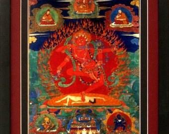 Bhuddhist Art Poster Tibet Kurukulla Print Framed Finest Quality