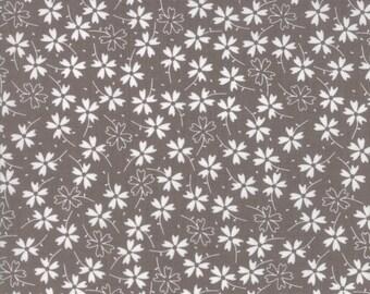 Lulu Lane Pansies fabric in Slate Gray by Corey Yoder for Moda Fabrics #29023-20