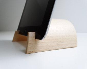 support tablette original en bois support ipad design
