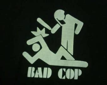 Bad Cop Screen Print Hoodie Sizes S-5XL