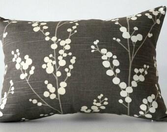 14x20 pillow cover, gray lumbar decorative pillow, pillow cover grey, lumbar pillow cover, decorative pillow cover,  gray pillow cover