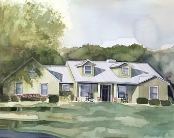 Custom Home Portrait - Great house warming gift!