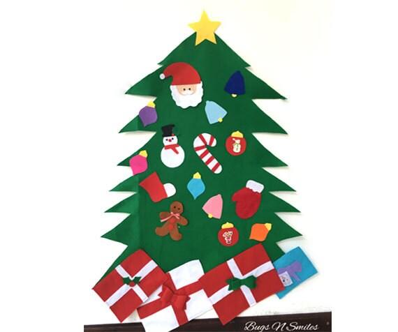 felt christmas tree for kids christmas tree activity set. Black Bedroom Furniture Sets. Home Design Ideas
