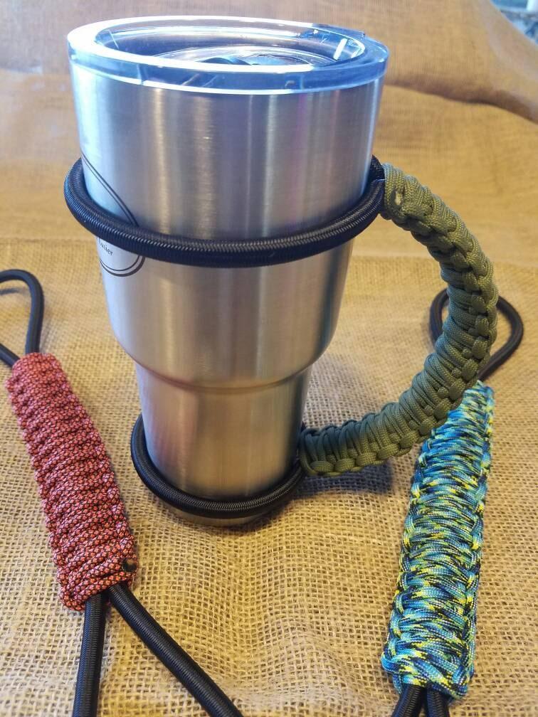 Handcrafted Paracord Tumbler Handle Custom Colors Mug