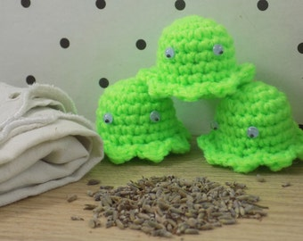 Octopus Provence Lavender Sachets | Hand-made in amigurumi | For the laundry. Decoration | Geek