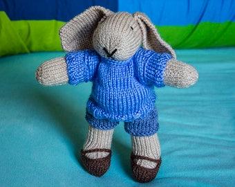 Cute hand knitted little rabbit