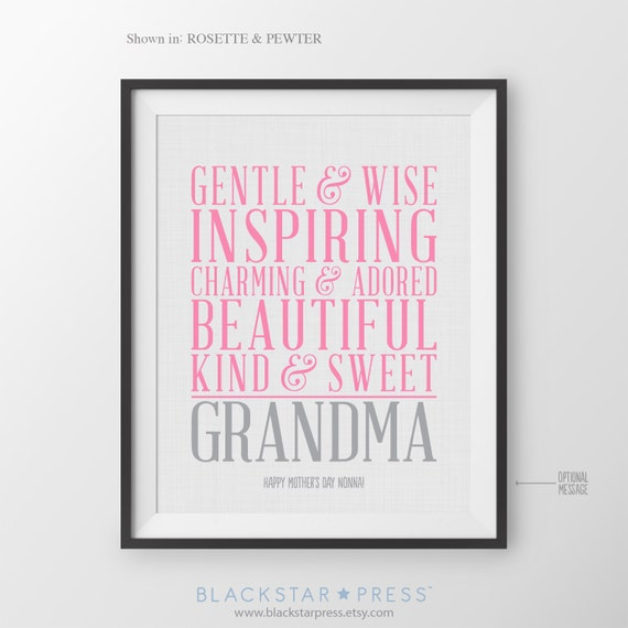 Birthday Gift For Grandmother Birthday Gift From By