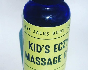 Children's Eczema Massage Oil , Organic Herbal Oil , Eczema Dry Skin Oil , All Natural Rash Relief , 1oz
