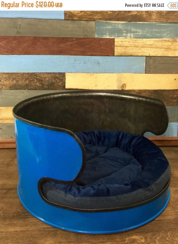 10 Off Oil Drum Dog Bed Repurposed Dog Bed Pet By Thecleverraven