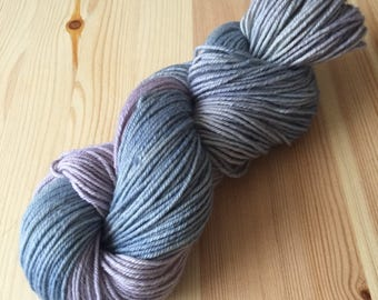 Bluebells at Dusk worsted weight hand dyed yarn limited time sale