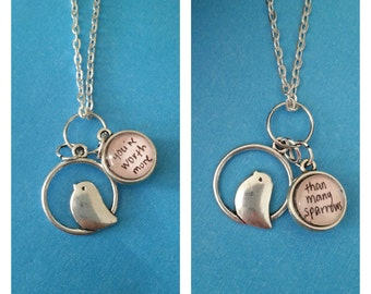 Many Sparrows Charm Necklace