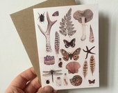 Natural History Collection Greeting card