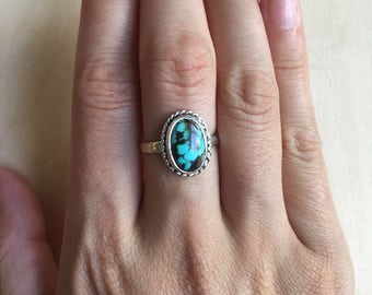 Sterlig Silver Turquoise Ring. Size 7