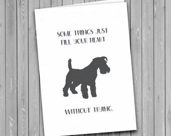 Schnauzer Dog Card, schnauzer greetings card, dog card