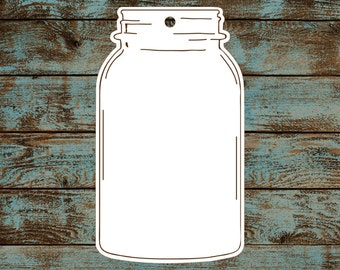 Favor or Gift Tags - Mason Jar Tags #694 - Quantity: 25 Tags
