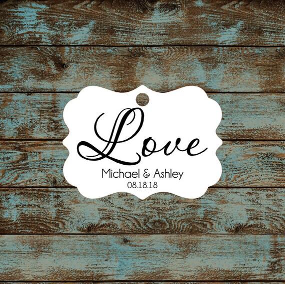 Love Wedding Reception Favor Tags # 670 Qty: 30 Tags