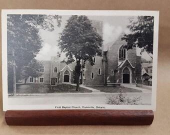 Post Card First Baptist Church Dunnville Ontario