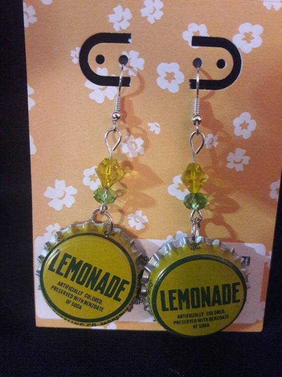 Lemonade Bottle Cap Earrings